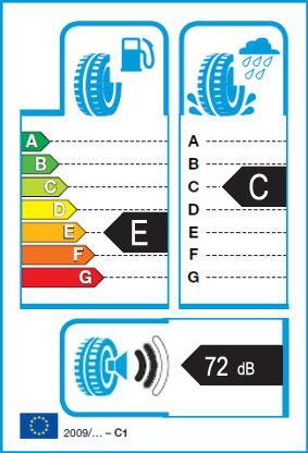 Energetický štítek vítěze testu zimních pneumatik 225-50 R17