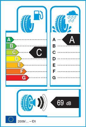 Energetický štítek vítěze testu letních pneumatik 205-55 R16 2018