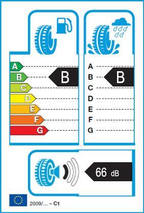 Energetický štítek vítěze testu letních pneumatik 215-65 R16