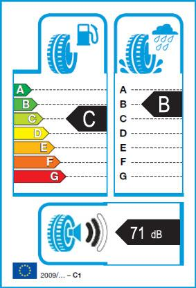 Energetický štítek vítěze testu letních pneumatik 225-50 R17