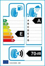 Energetický štítek vítěze testu letních pneumatik 225-45 R17 - 2018