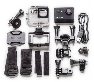 Akční kamera Niceboy Vega 5 FUN - obsah balení