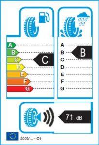 Energetický štítek vítěze testu zimních pneumatik 185-65 R15 - 2018