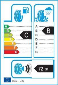 Energetický štítek vítěze testu zimních pneumatik 205-55 R16 - 2018